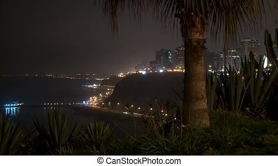 Timelapse Traffic at Night - traffic at night in Lima, Peru,...