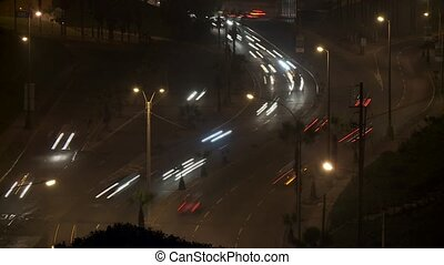 Timelapse Traffic at Night