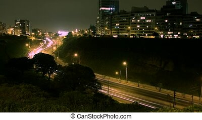 Timelapse Traffic, Lima, Peru