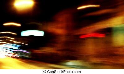 timelapse, trafic, nuit