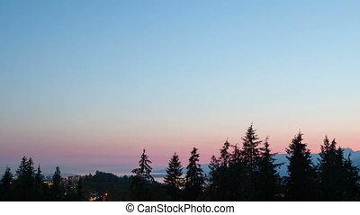 Timelapse Vancouver park view