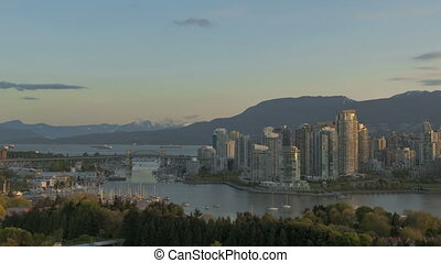 Timelapse Vancouver Skyline
