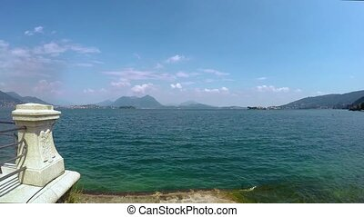 timelapse video of maggiore lake in Italy