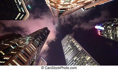 Timelapse video of Singapore skyscrapers