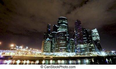 transport metropolis, traffic and blurry lights - Timelapse...