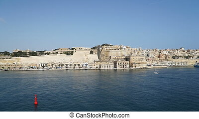 Timelapse View of the Mediterranean Sea,Valletta and the...