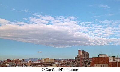 Timelapse view with zoom in, from Badalona to Tibidabo in ...
