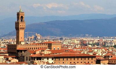 timelapse, von, florenz, skyline, italien