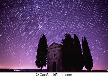 Timelapse with startrails - Timelapse with starry night...