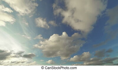 timelapse with the clouds on heaven