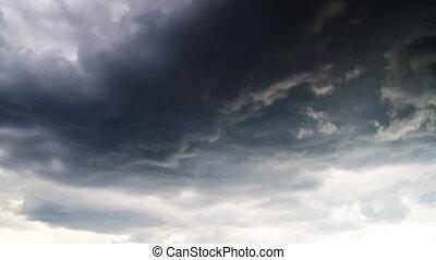 Timelapse, wolkenhimmel, Regen