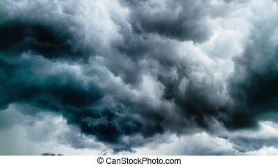 Timelapse, wolkenhimmel, sturm