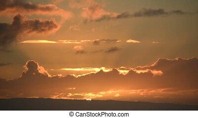 Timelapsed Sunrise - Beautiful time lapsed sunrise through...