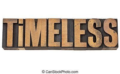 timeless in letterpress wood type