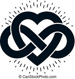 Timeless Love concept, vector symbol created with infinity...