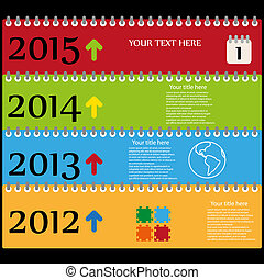 Timeless web color template vector