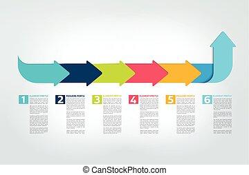 timeline, bericht, tabelle, infographic, vector., scheme.,...