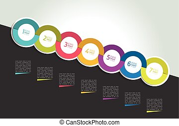 timeline, bulle discours, concept., infographic.