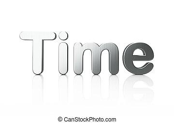 Timeline concept: 3d word Time