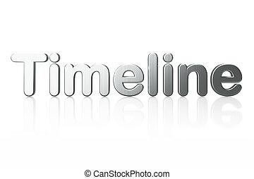 Timeline concept: 3d word Timeline