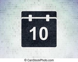 Timeline concept: Calendar on Digital Data Paper background