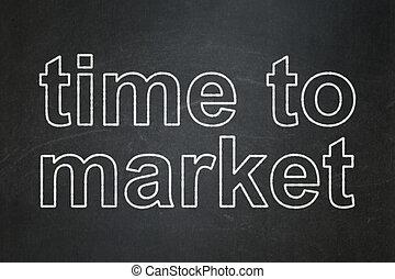 timeline, concept:, chalkboard, fundo, tempo, mercado