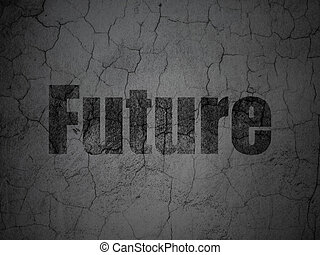 Timeline concept: Future on grunge wall background
