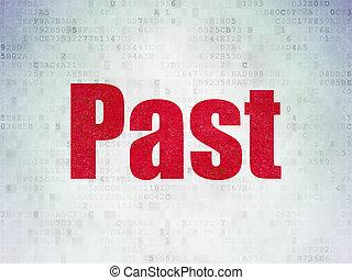 Timeline concept: Past on Digital Data Paper background