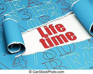 timeline, concept:, rotes , text, leben, zeit, unter, der,...