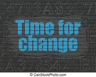 Timeline concept: Time for Change on wall background