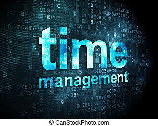 Timeline concept: Time Management on digital background - ...