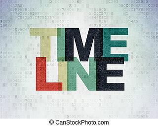 Timeline concept: Timeline on Digital Data Paper background