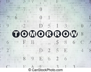 Timeline concept: Tomorrow on Digital Paper background