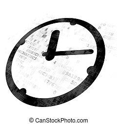 timeline, digitální, concept:, grafické pozadí, hodiny