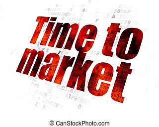timeline, digital, concept:, fundo, tempo, mercado