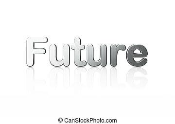 timeline, futuro, parola, concept:, 3d