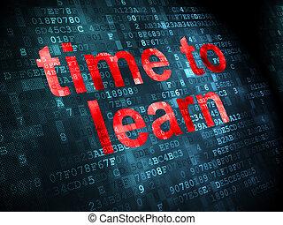timeline, imparare, tempo, fondo, digitale, concept: