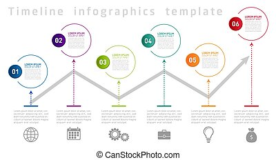 Timeline Infographic Design Template. Vector illustration.
