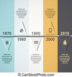 Timeline Infographic - Timeline infographic background, eps...