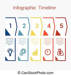 Timeline Infographic for five position