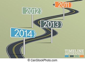 timeline, infographic, gabarit