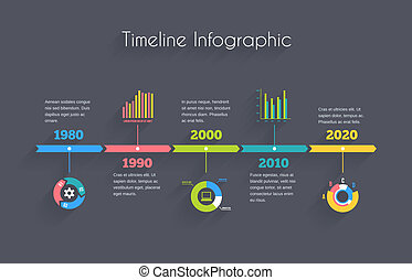 timeline, infographic, sagoma