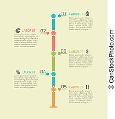 timeline, infographic, tabelle, elemente