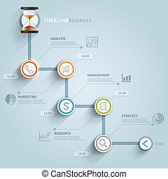 Timeline infographic template. Vector illustration. can be ...