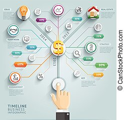 Timeline infographic template. Vector illustration. can be used for workflow layout, banner, diagram, number options, web design.