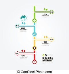 Timeline Infographic vector design template.