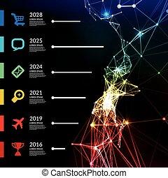 Timeline infographic vector illustration