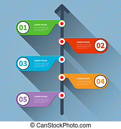 timeline, infographics, minimo, banner.