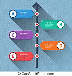 Timeline infographics options banner.