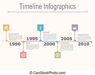 Timeline infographics design template, vector eps10 illustration
